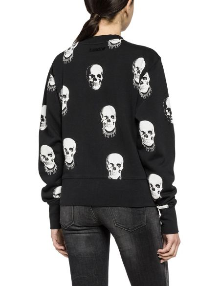 Replay Skull -Print Sweatshirt