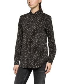Replay Printed Stretch Crepe Shirt
