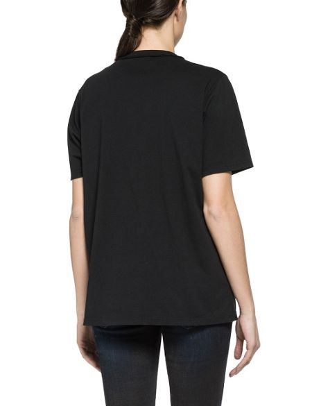 Replay Printed Cotton Jersey T-Shirt