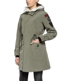 Replay Parka With Patches