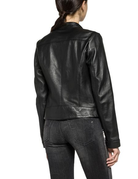 Replay Calfskin Biker Jacket