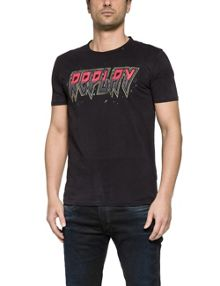Replay T-shirt with contrast replay print