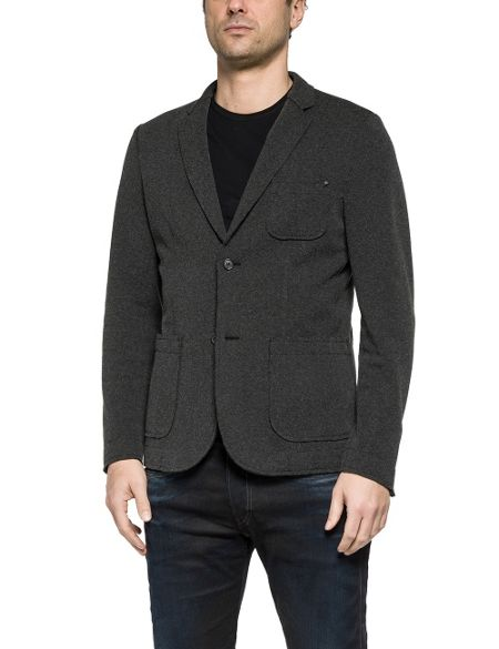Replay Stretch cotton blend jacket