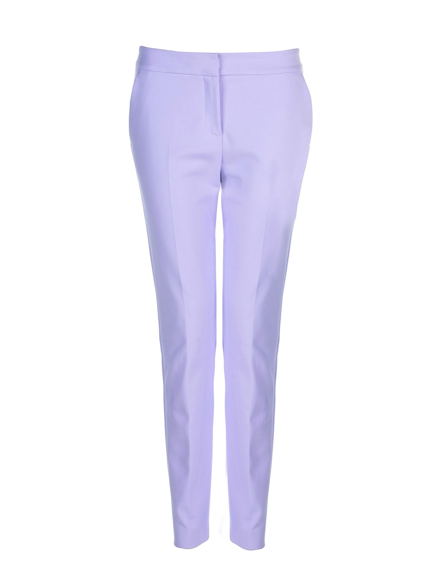 Stefanel Straight Stretch Cotton Trouser, Lilac