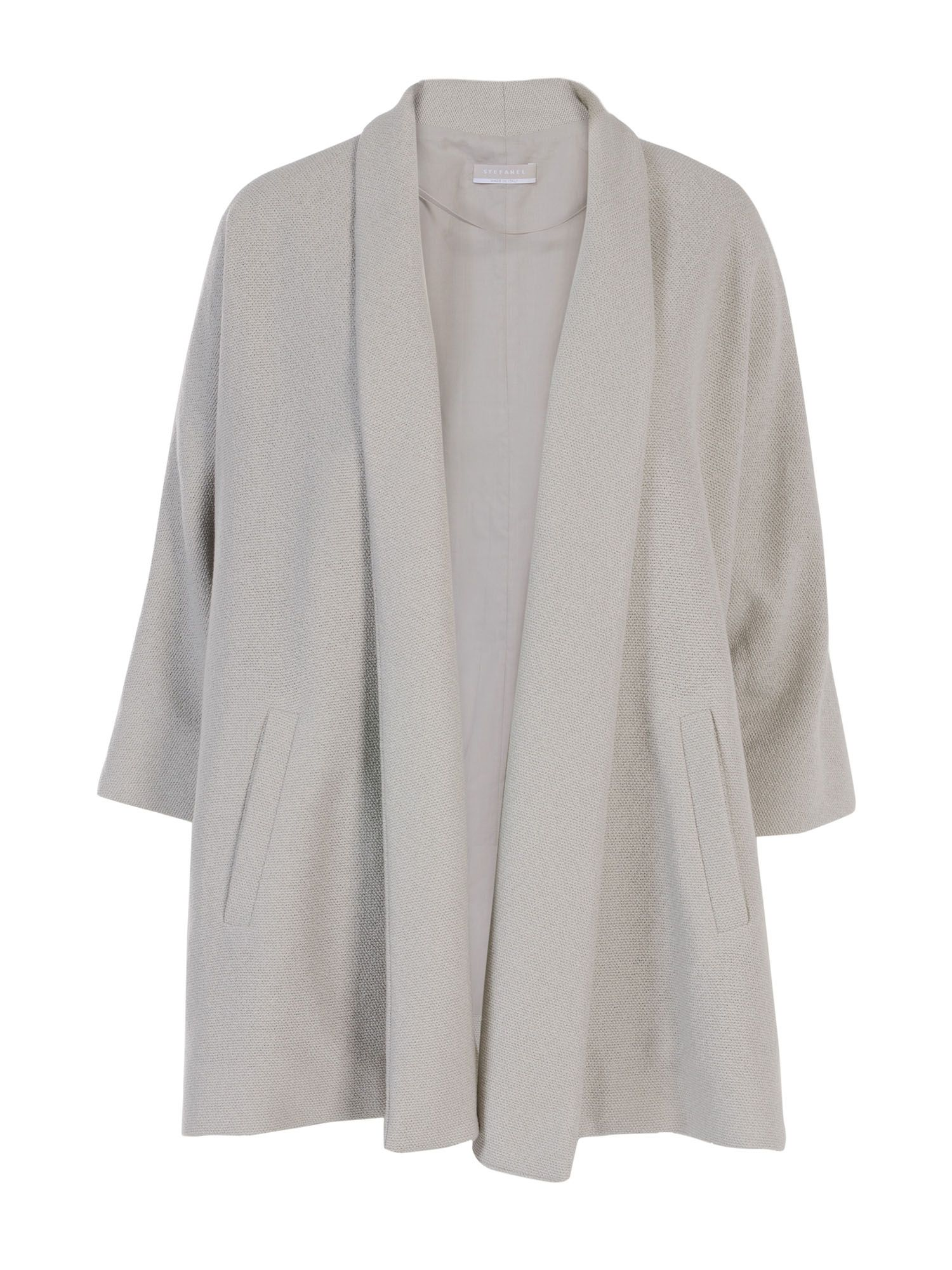 Stefanel Open Jacket With Revers, Grey