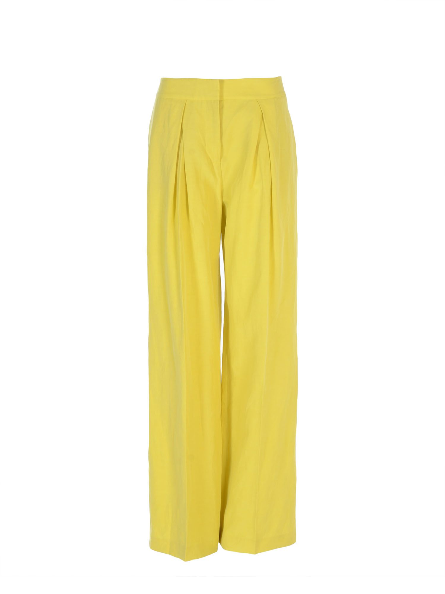 Stefanel Lyocell Linen Pant, Yellow
