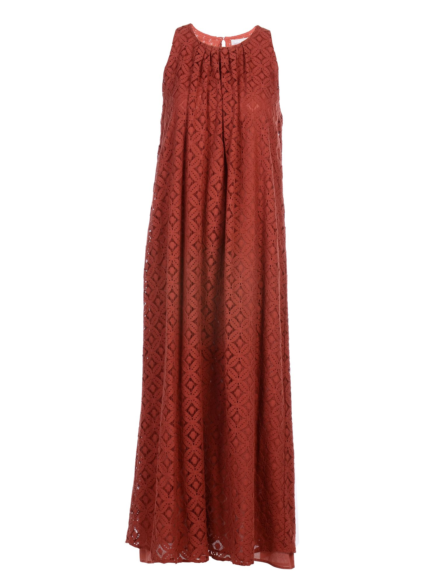 Stefanel Long lace dress, Red