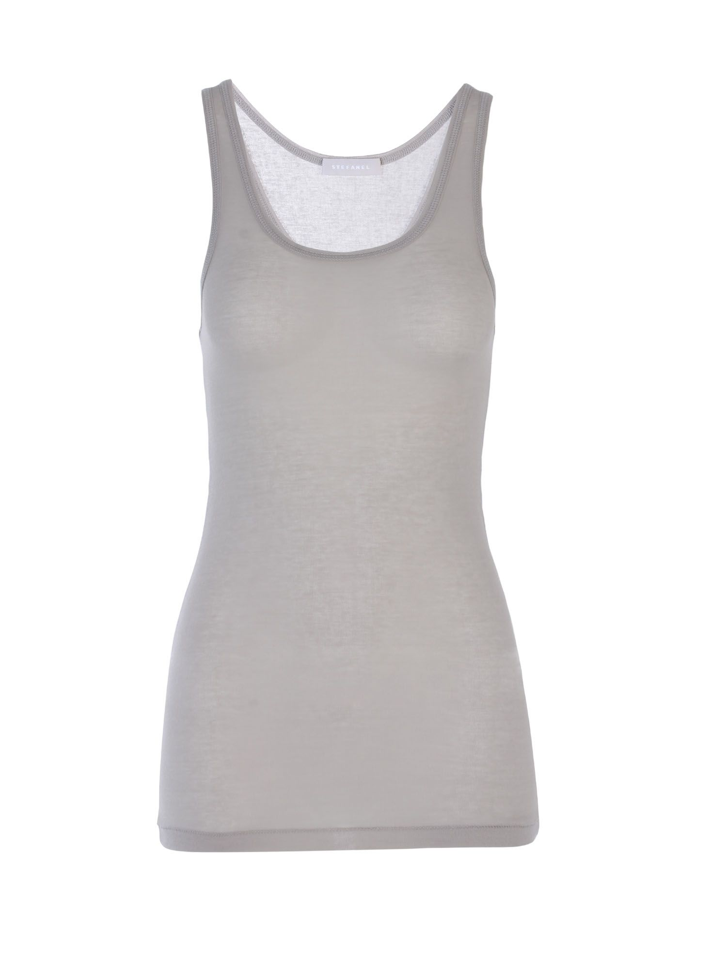 Stefanel Jersey And Cotton Vest, Grey