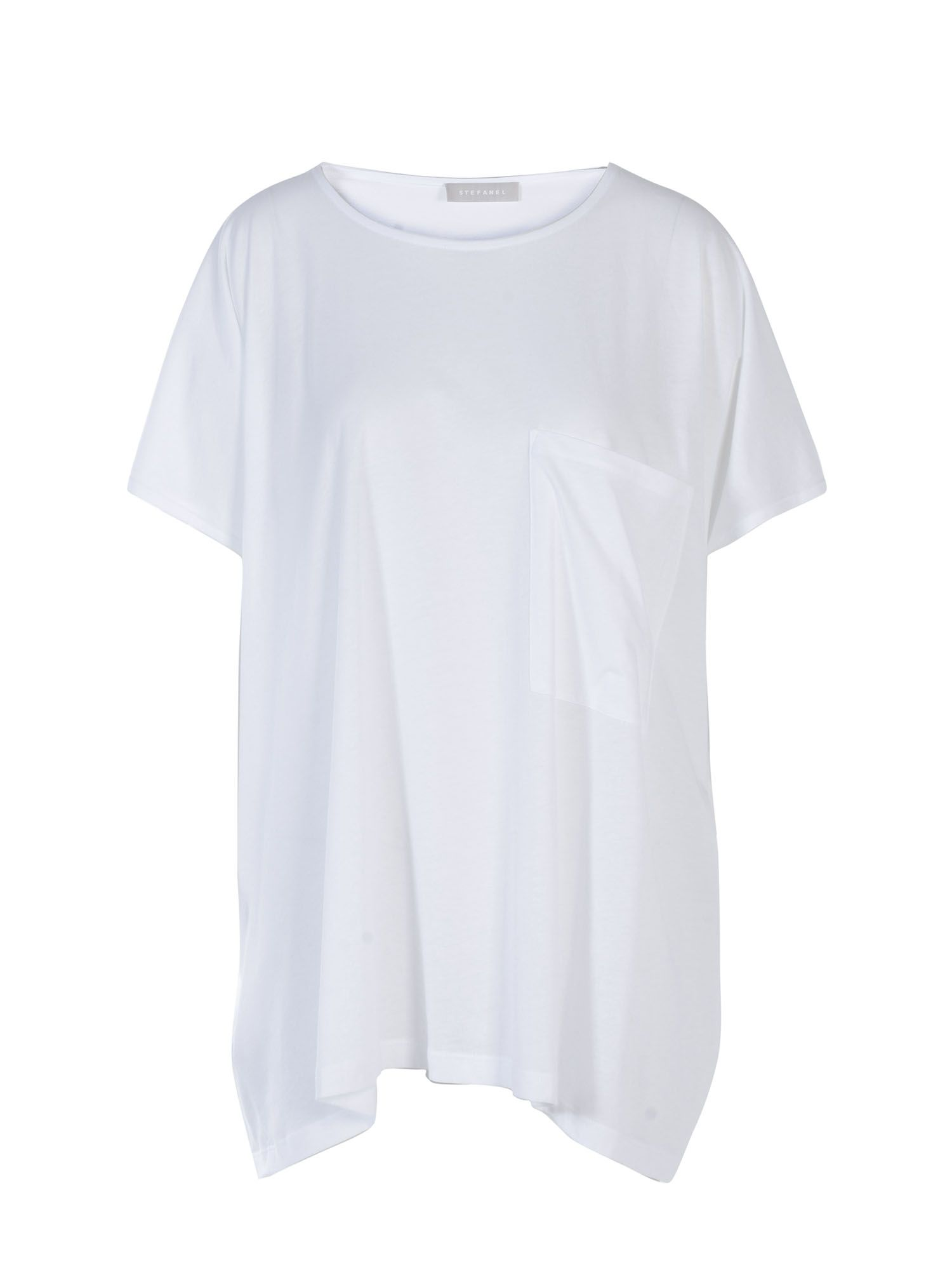 Stefanel Oversize Cotton Jersey T-Shirt., White