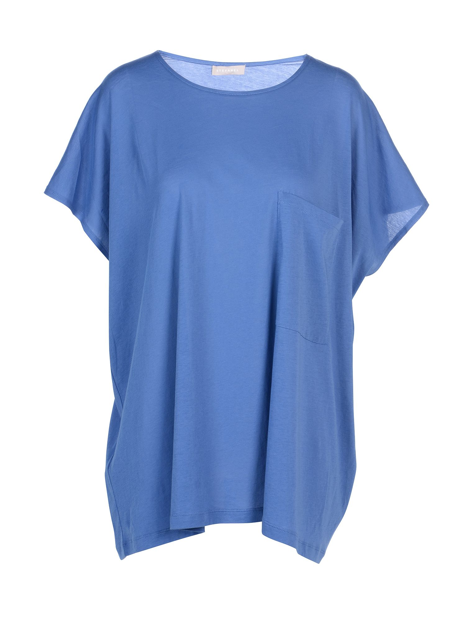 Stefanel Oversize Cotton Jersey T-Shirt., Blue