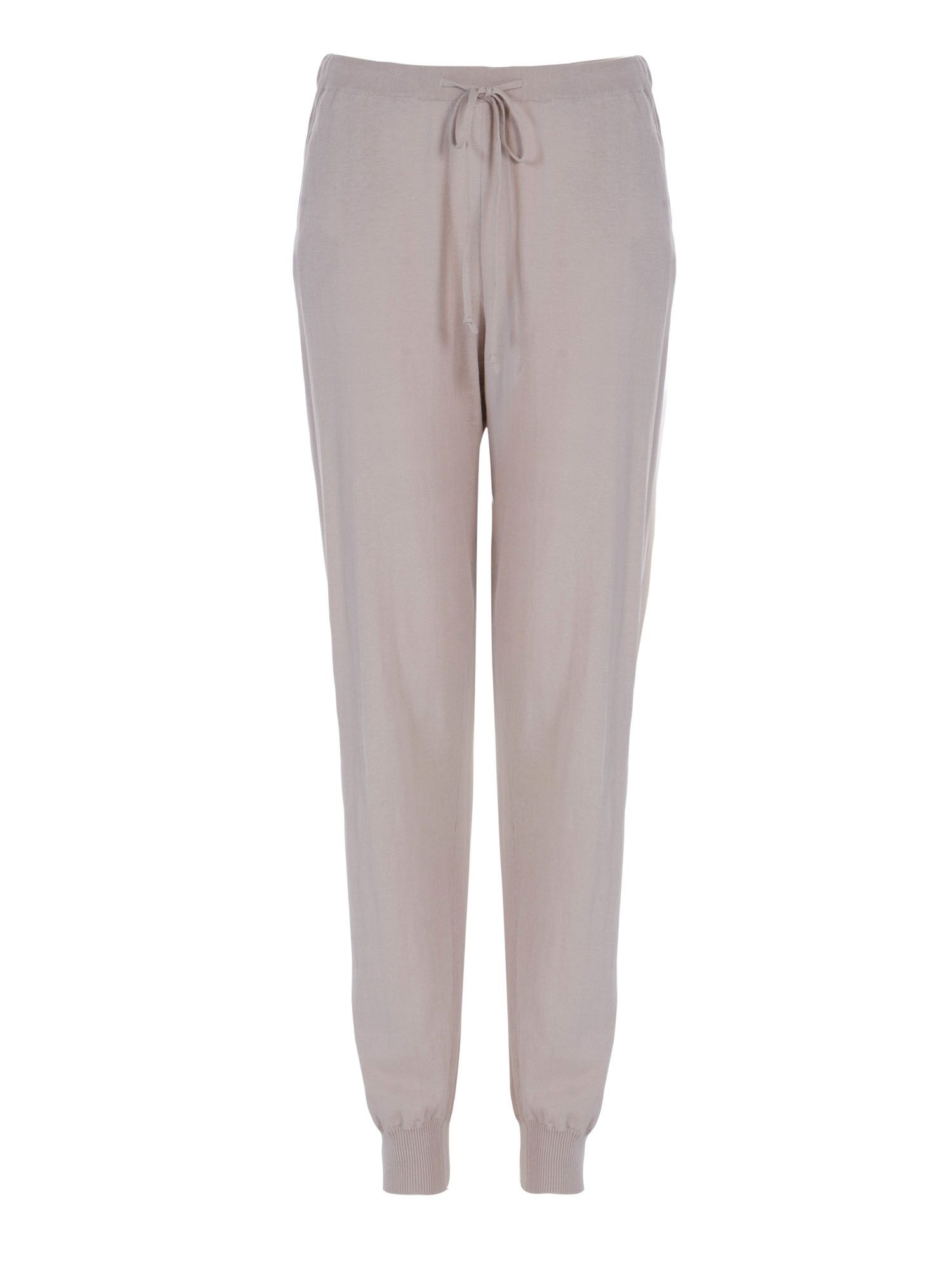 Stefanel Cotton Crepe Jogging Pant, Grey