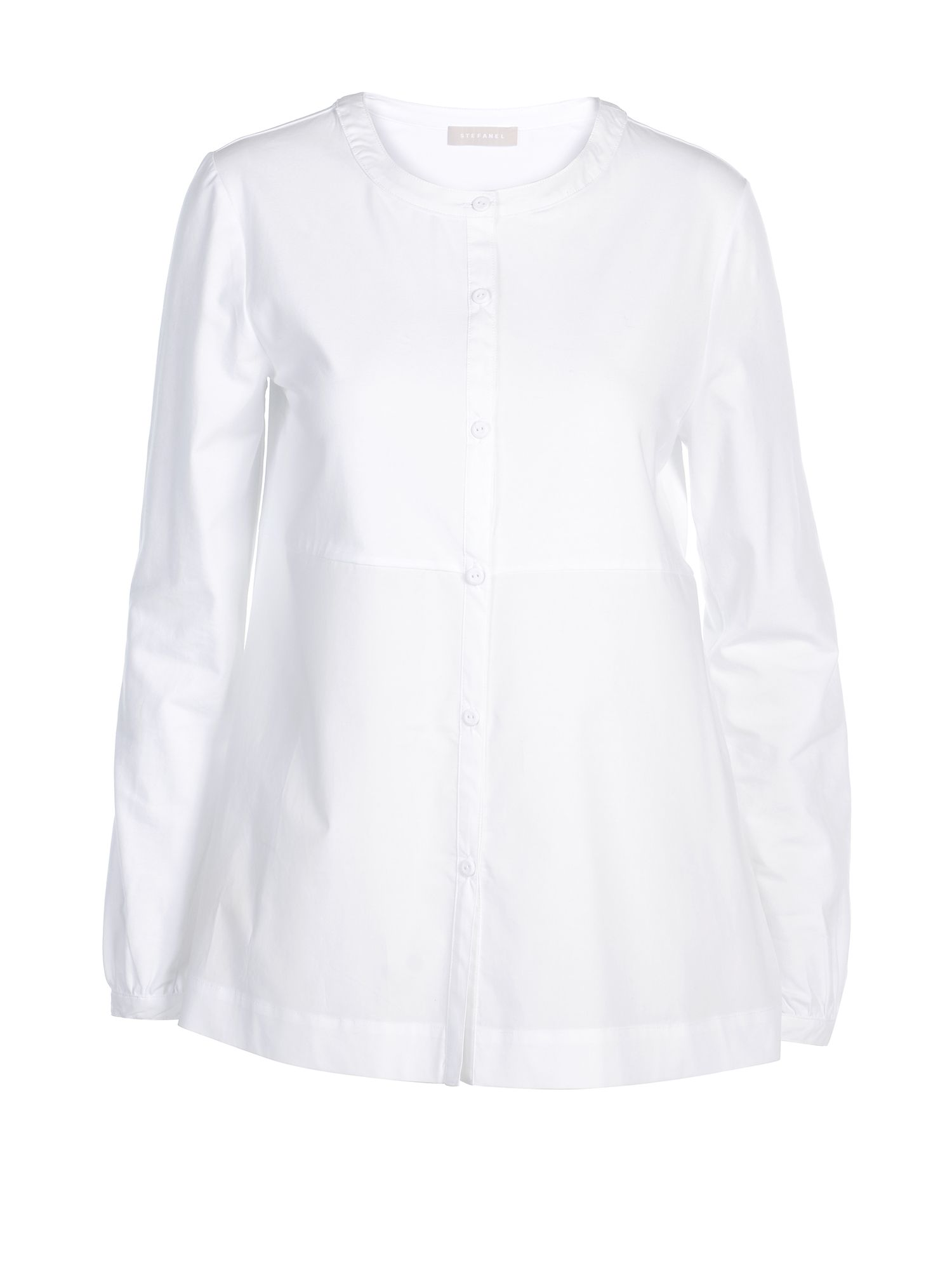 Stefanel Jersey And Poplin Shirt, White