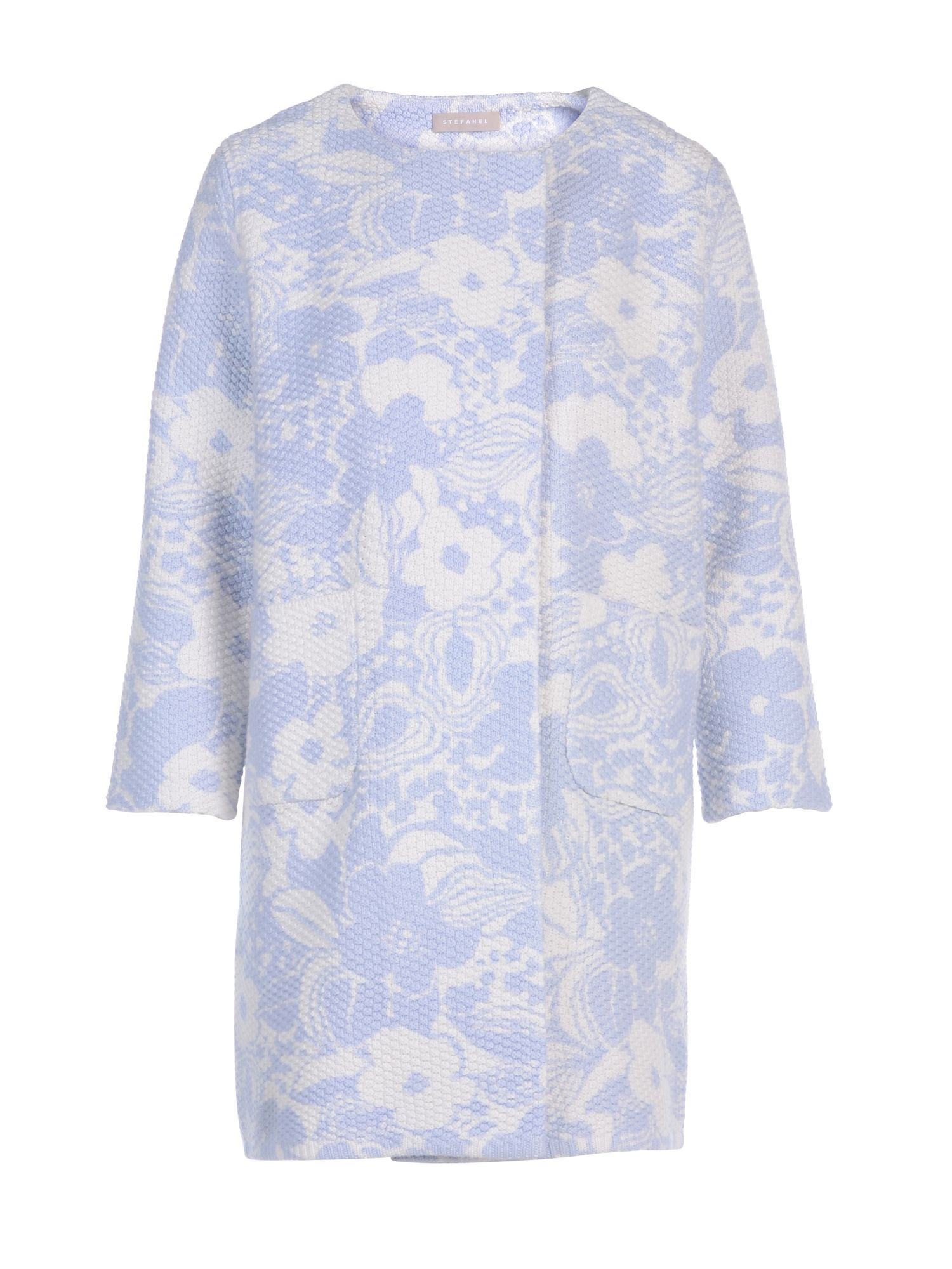 Stefanel Printed Patterned Coat, Lilac