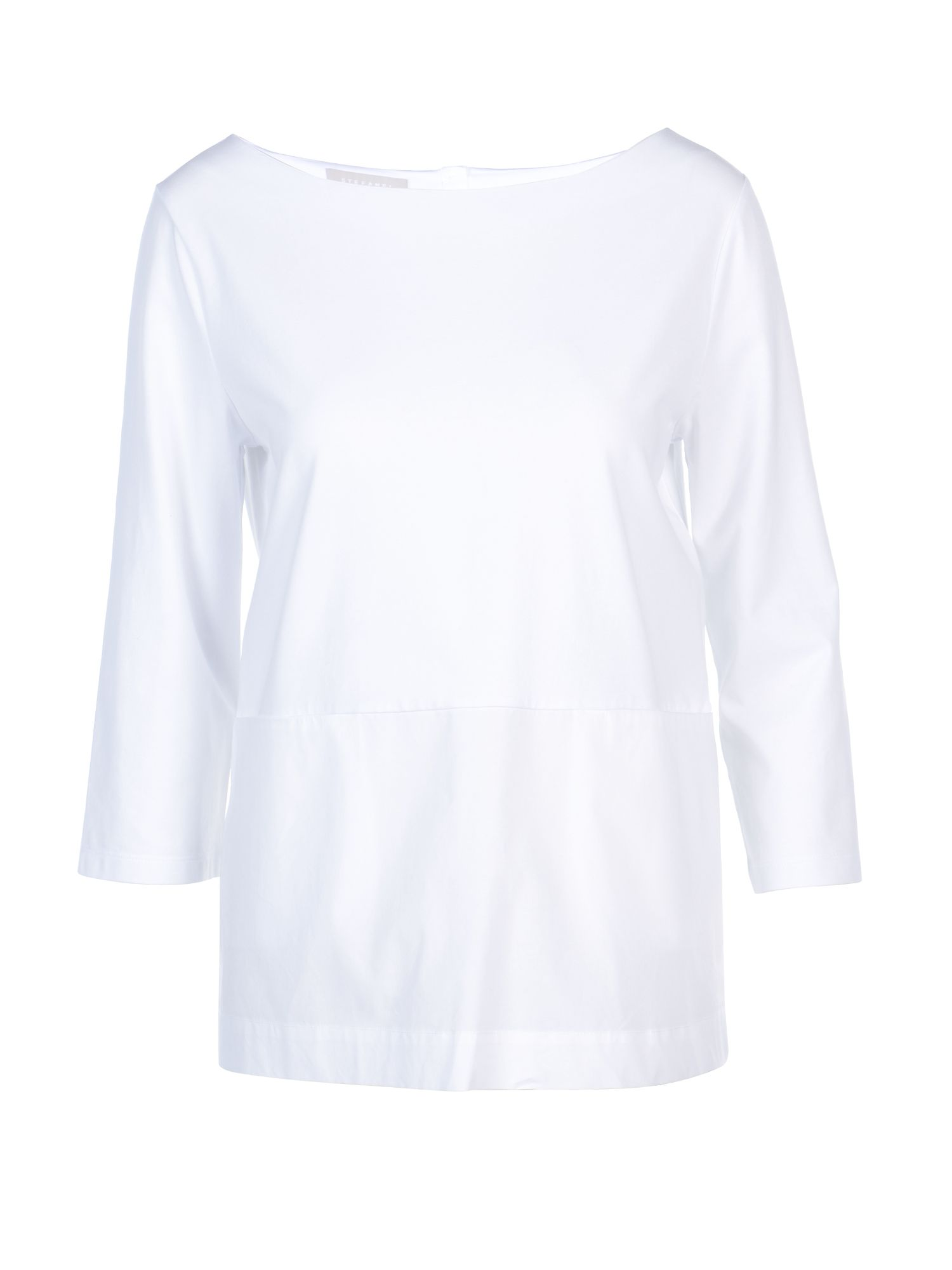 Stefanel Jersey And Poplin T-Shirt, White