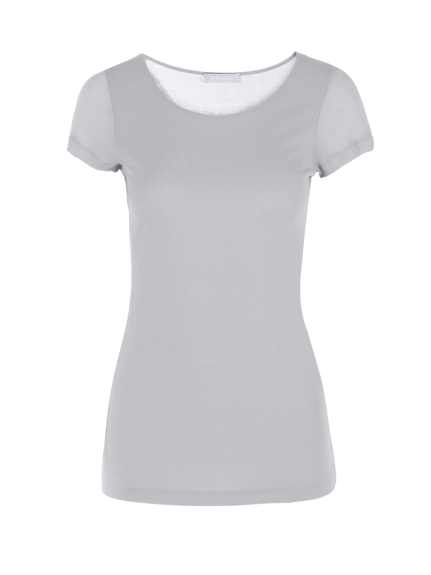 Stefanel Jersey And Cotton T-Shirt, Grey
