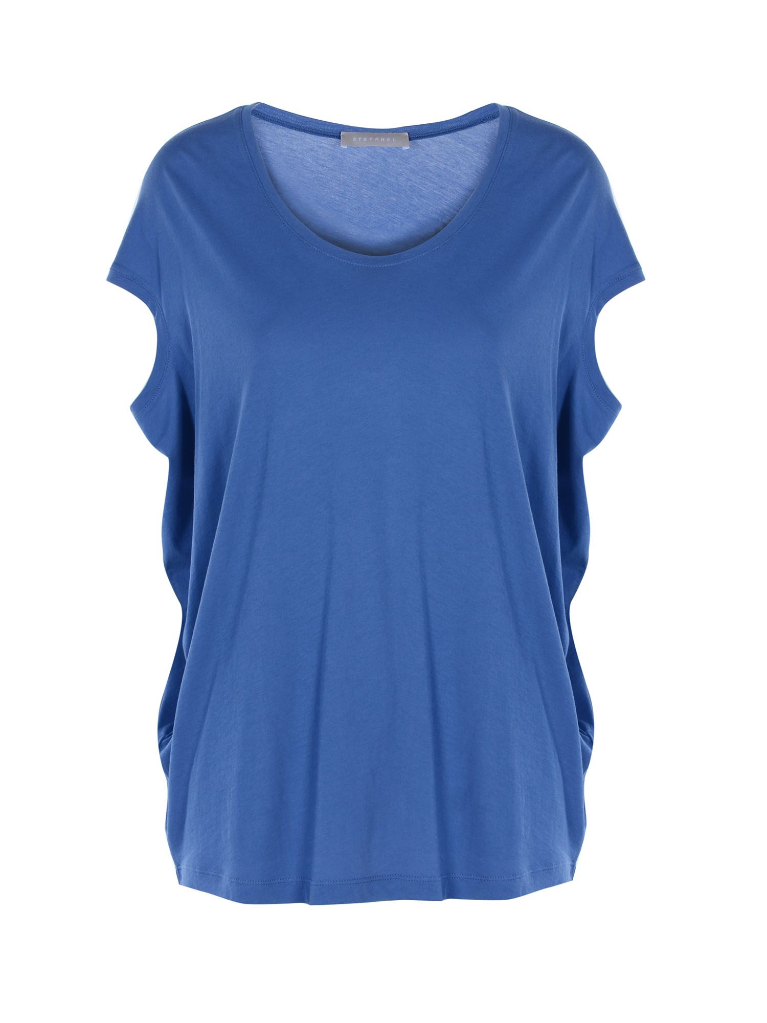 Stefanel Cotton Jersey T-Shirt, Blue