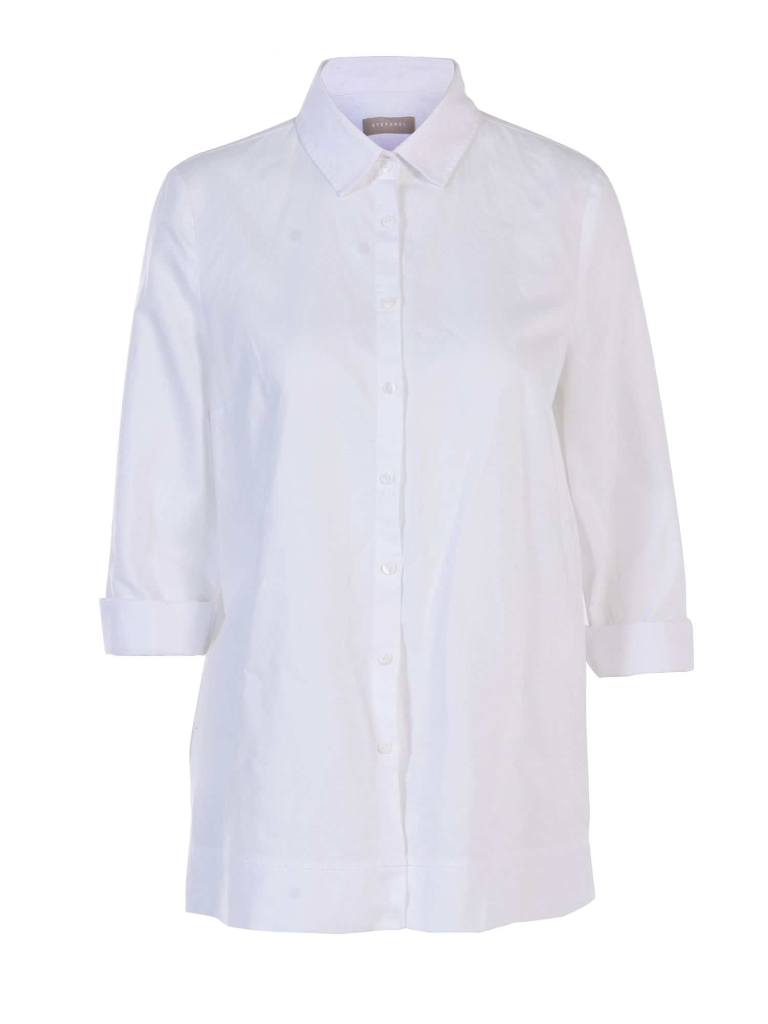 Stefanel Cotton And Linen Shirt, White