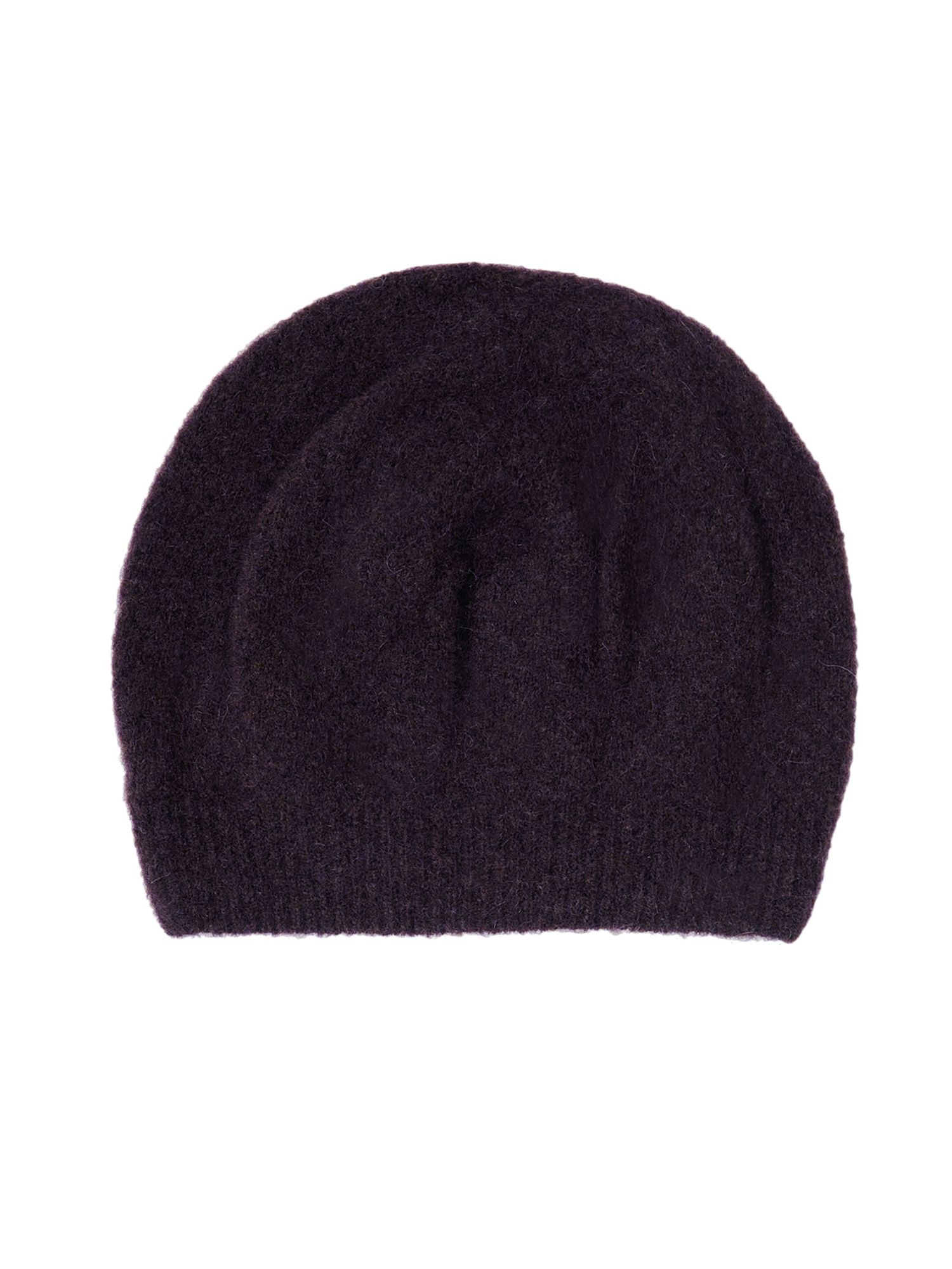 Stefanel Stocking Yak Blend Hat, Purple