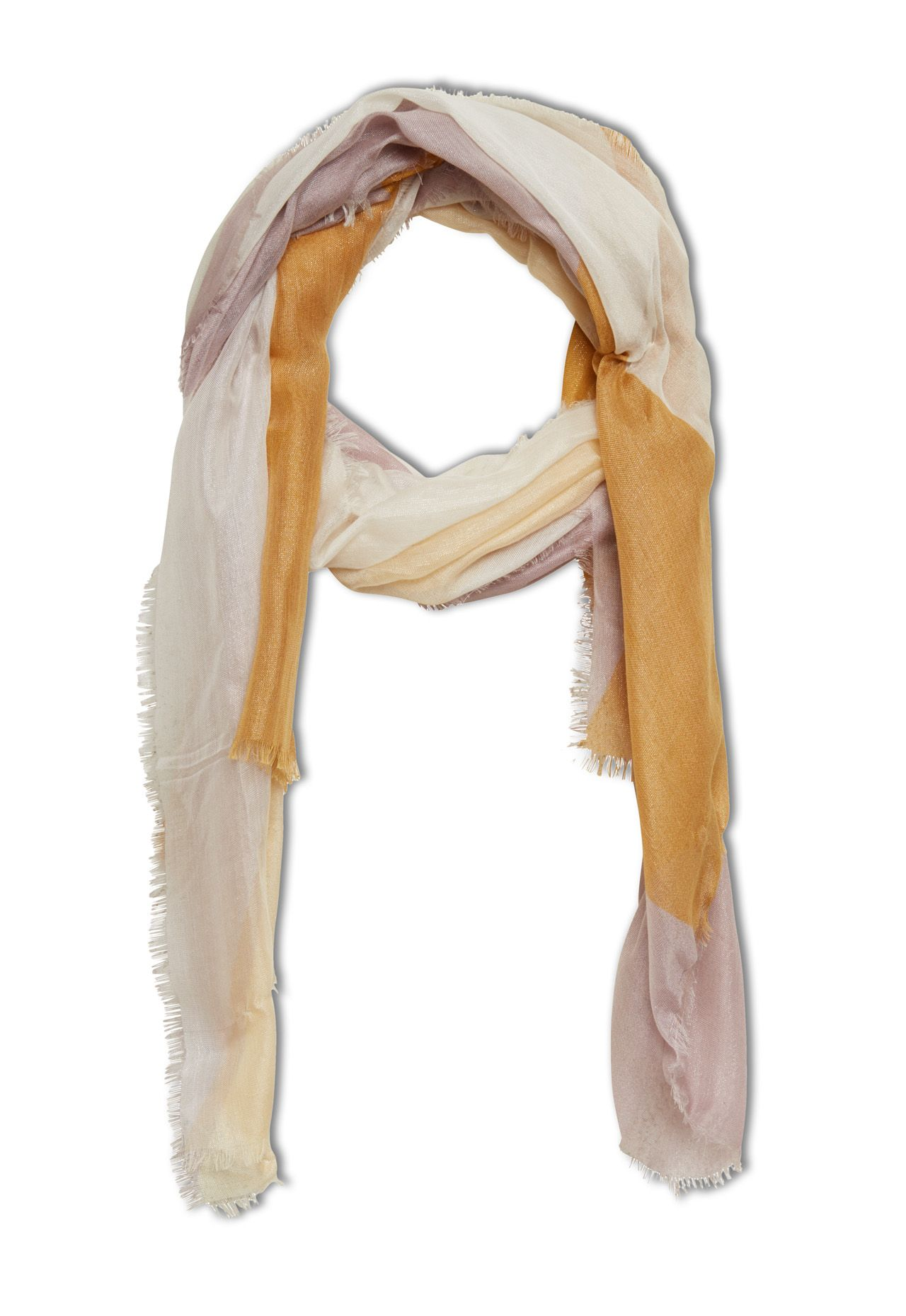 Stefanel Colour Block Scarf, Yellow