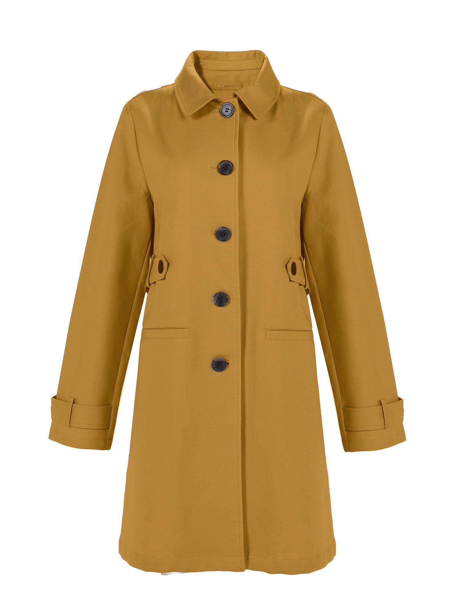 Stefanel Cotton Coat, Yellow
