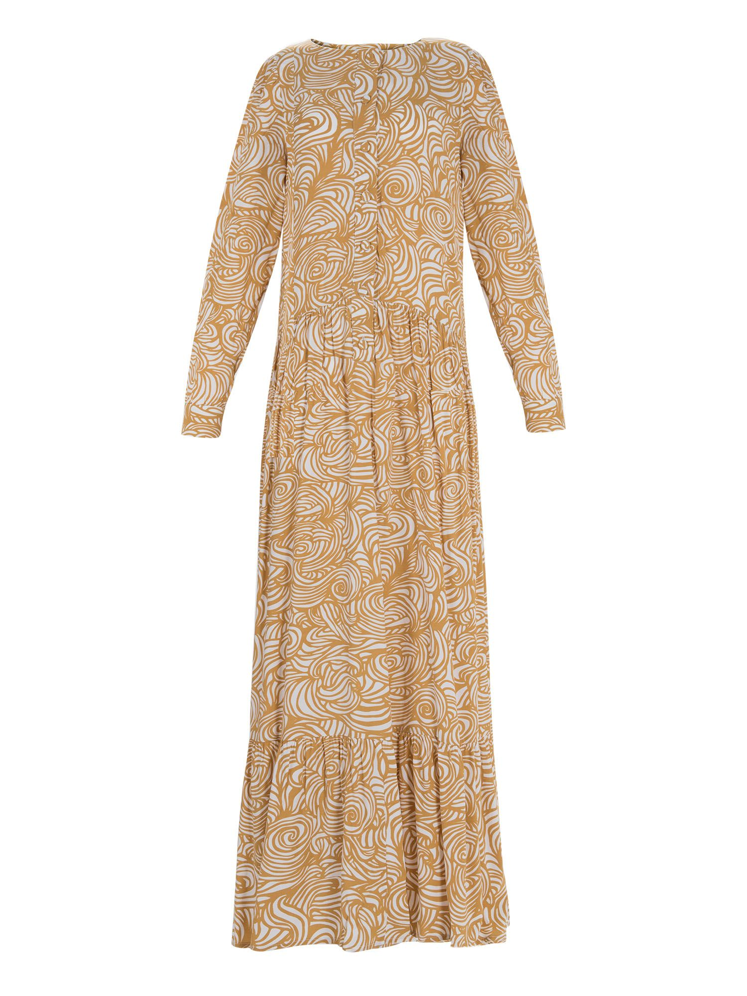Stefanel Patterned Long Dress, Yellow