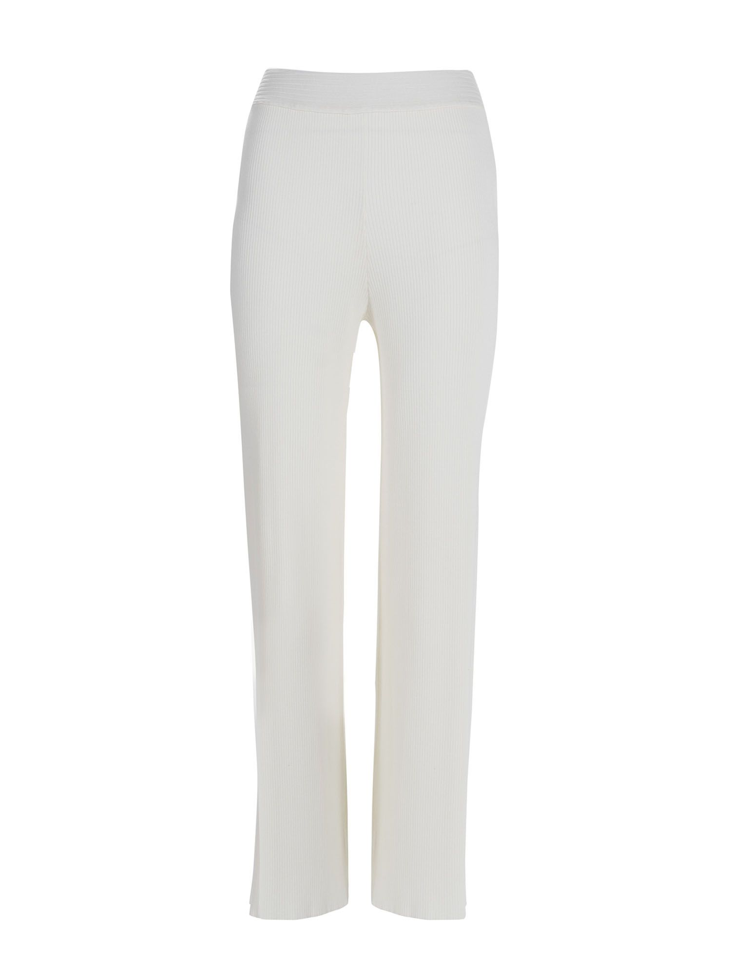 Stefanel Ribbed Trousers, Cream