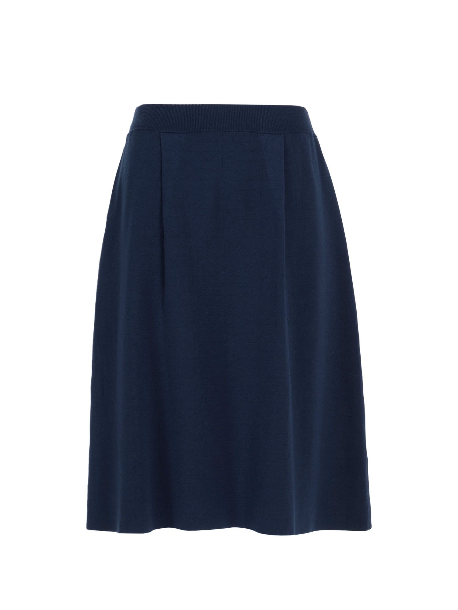 Stefanel Geometric Pattern Skirt, Blue