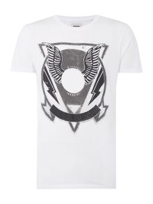 Diesel T-Clar Regular Fit Wings Graphic T Shirt