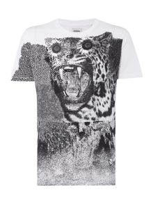 Diesel T-Vanis Reg Fit Tiger Graphic T Shirt