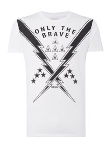 Diesel T-Aubin Only The Brave Graphic T Shirt