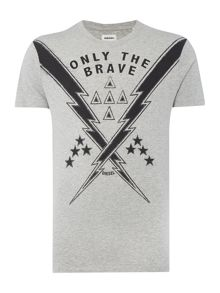 T-Aubin Only The Brave Graphic T Shirt