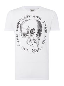 Diesel T-Isem Regular Fit Skull Graphic T Shirt