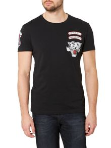 Diesel T-Newyn Tiger Embroidered Logo T Shirt