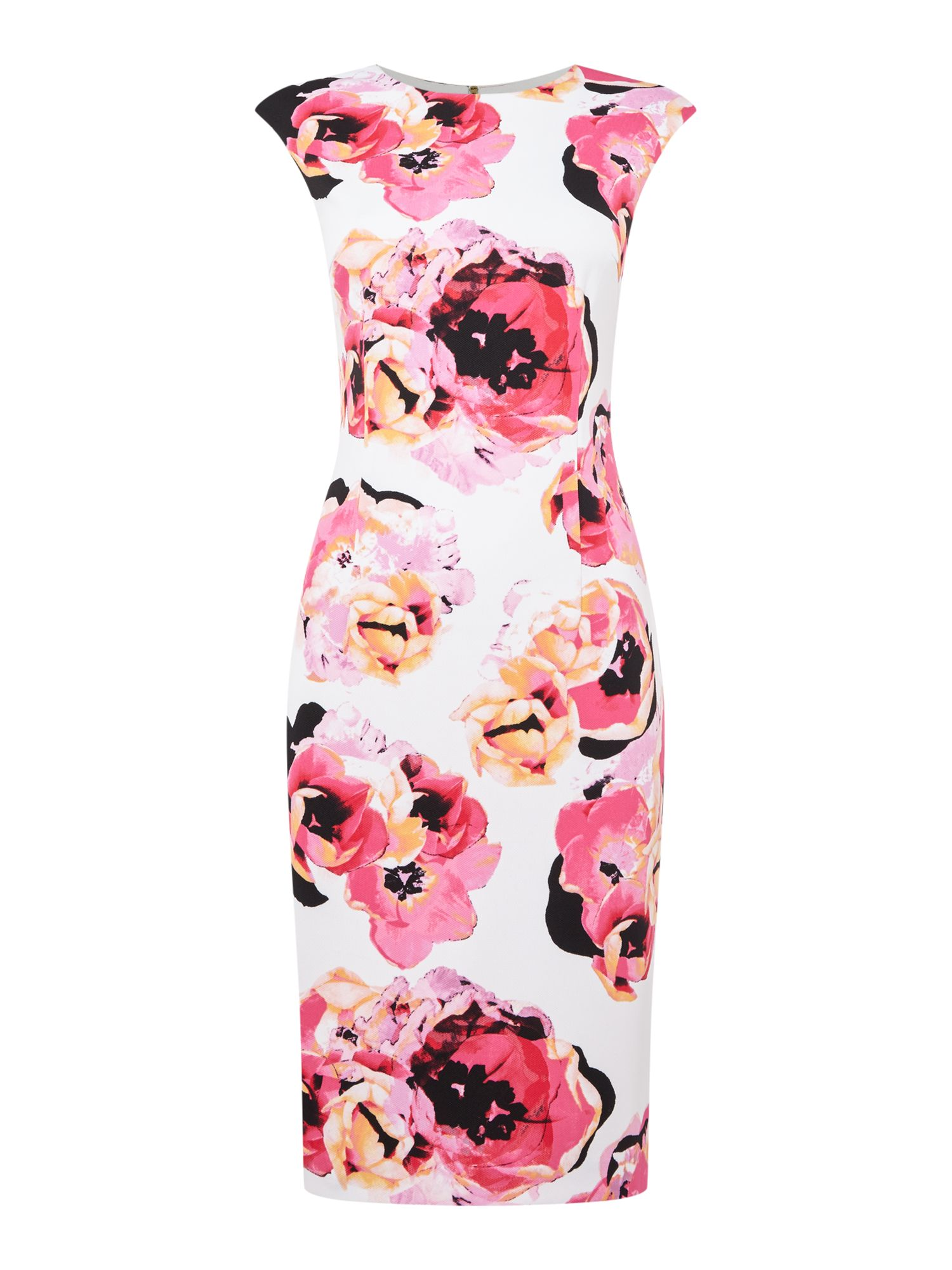 Tahari ASL Summer floral print dress, Multi-Coloured