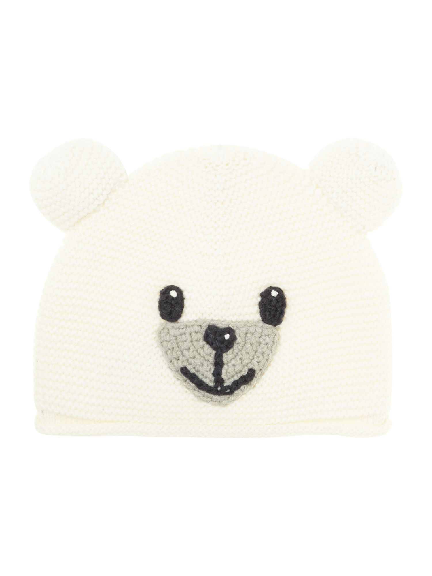 Baby panda knitted hat