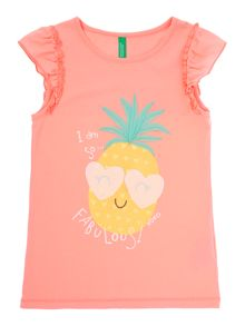 Girls Pineapple Sleeveless Tee