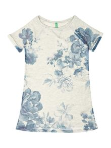 Girls Floral Sweat Dress