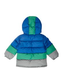 Benetton Boys Padded Colour Block Hood Jacket