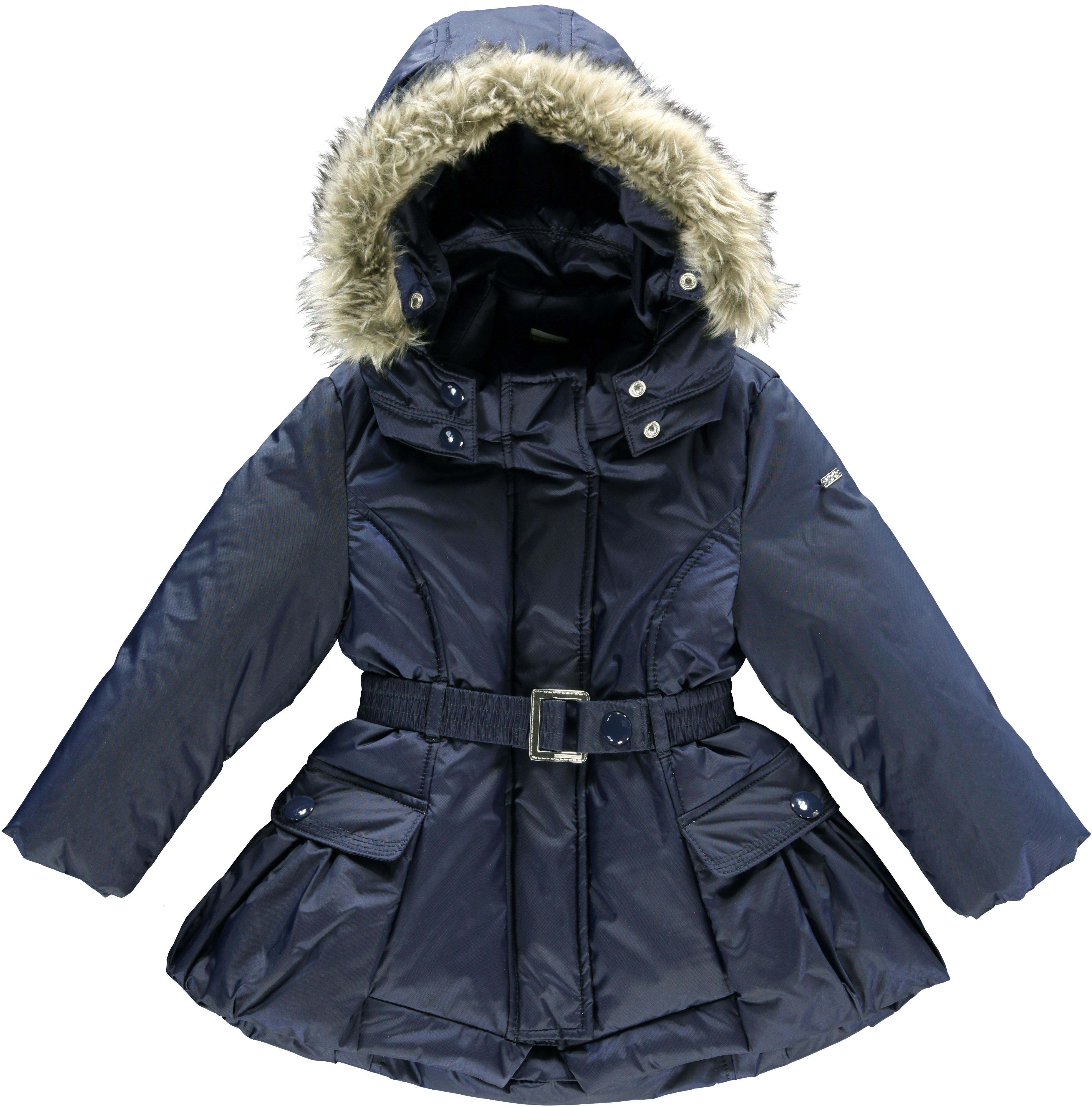 Girl`s hooded padded coat