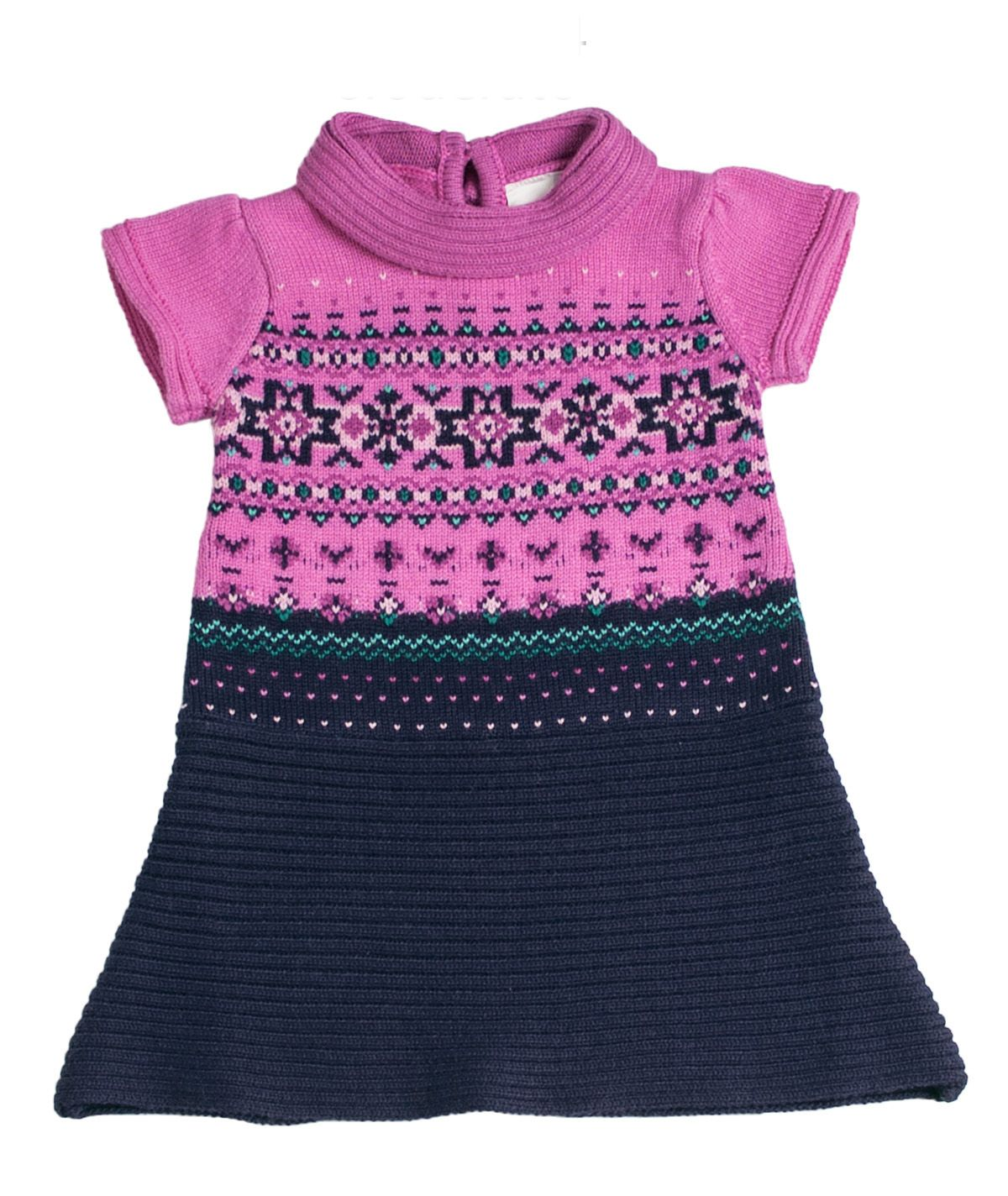 Girl`s knitwear bicolor dress