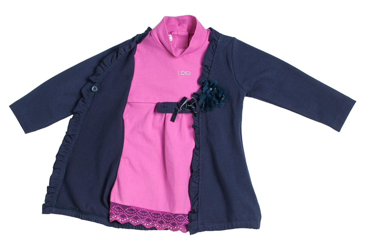 Girl`s 2 in 1 dress & cardigan