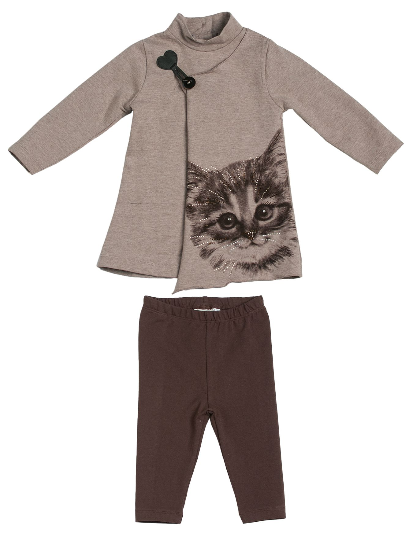 Girl`s cat glam two piece set