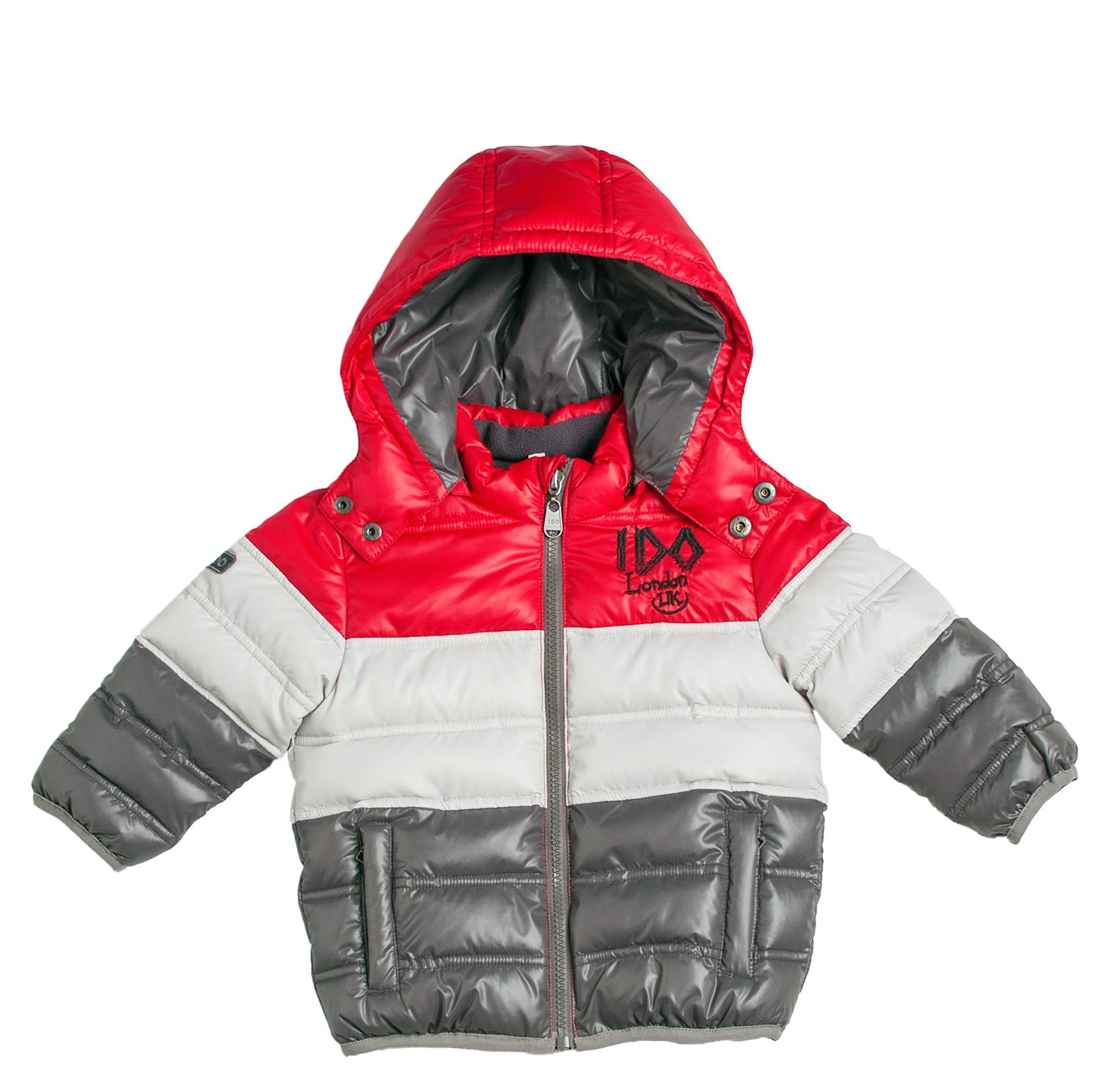 Hooded tricolor jacket