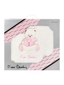 Pierre Cardin Baby girls pink teddy blanket 110 x 80