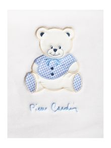 Pierre Cardin Baby boys blue teddy blanket 140 x 110