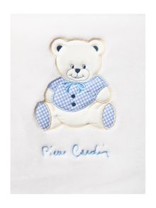 Pierre Cardin Baby boys blue teddy blanket 110 x 80