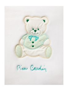 Babies green teddy blanket 110 x 80