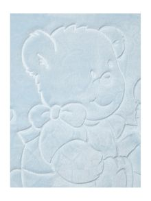 Baby boys embossed blanket 140 x 110