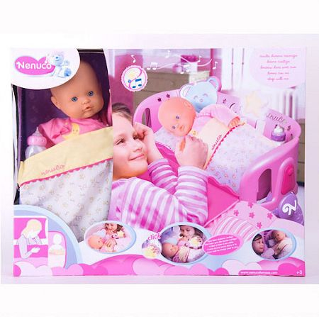 Nenuco Nenuco Sleep with Me Doll and Cradle