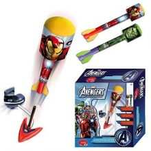 The Avengers Two Sky Foam Rockets With Launch Base